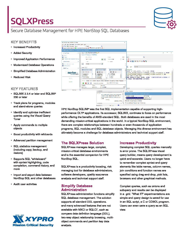 SQLXpress Datasheet Download (PDF)
